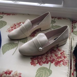 Zara loafers with pearl detail